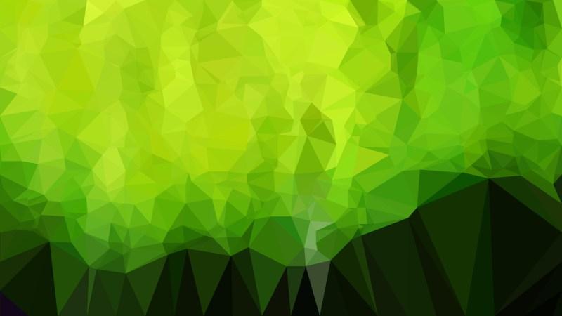 Green and Black Geometric Polygon Background