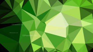 Abstract Green and Black Low Poly Background Template Design