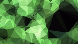 Abstract Green and Black Polygonal Triangular Background Vector Illustration