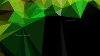 Abstract Green and Black Polygon Background Graphic Design Image