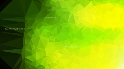Abstract Green and Black Polygonal Background Design Vector Image