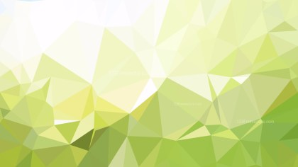 Green and White Low Poly Abstract Background