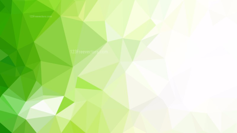 Green and White Polygonal Background