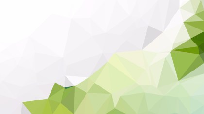 Green and White Polygonal Triangular Background