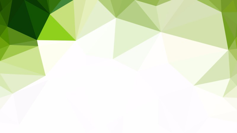Abstract Green and White Polygon Background Template