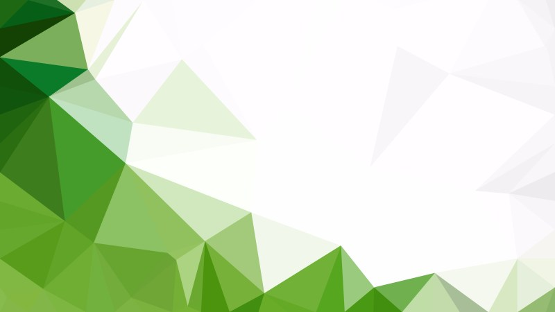 Abstract Green and White Low Poly Background