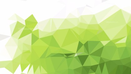 Abstract Green and White Polygon Pattern Background Vector Art