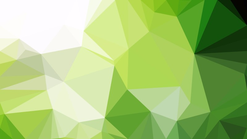 Abstract Green And White Polygon Triangle Background