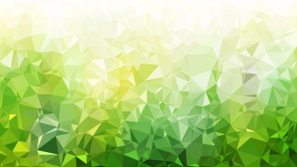 Green and White Low Poly Background Illustration