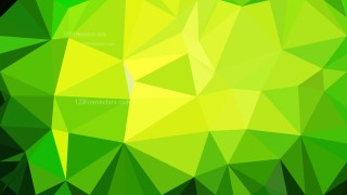 Abstract Green and Yellow Polygonal Triangle Background