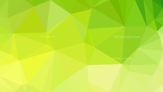 Green and Yellow Low Poly Abstract Background Design Illustrator