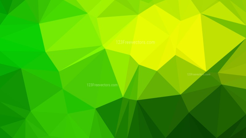 Green and Yellow Polygonal Abstract Background Design Vector Illustration