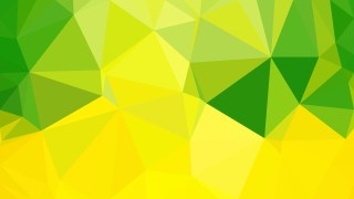 Green and Yellow Polygon Abstract Background