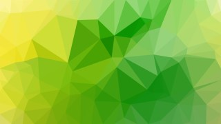Green and Yellow Low Poly Abstract Background