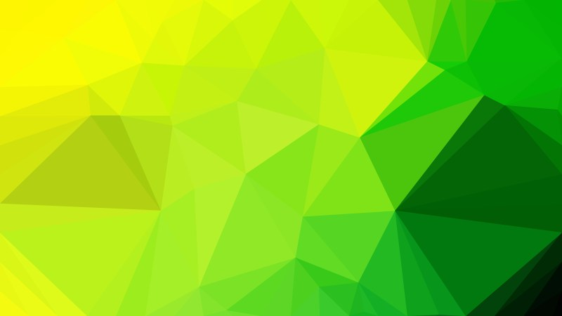 Green and Yellow Geometric Polygon Background