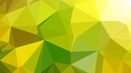 Green and Yellow Polygon Triangle Pattern Background