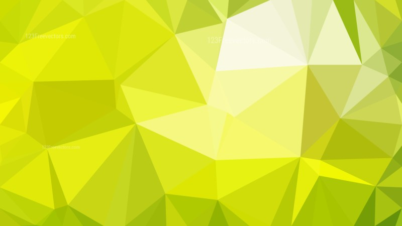 Green and Yellow Polygon Abstract Background Vector Graphic