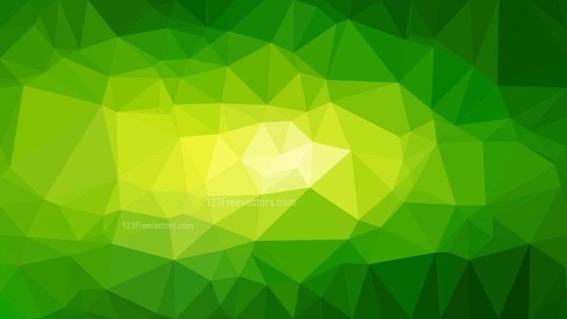 Abstract Green and Yellow Polygon Background Graphic Design