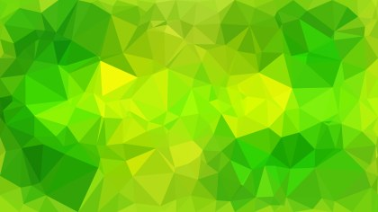 Green and Yellow Polygon Background Design Graphic