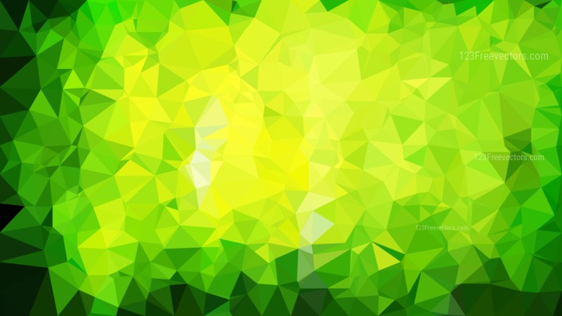Green and Yellow Polygon Pattern Background Vector Art