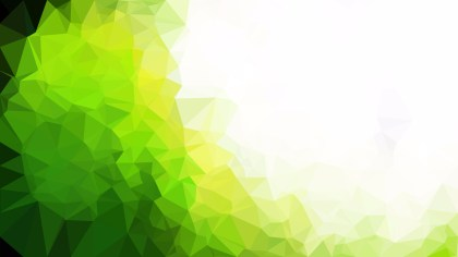 Abstract Green Yellow and White Polygonal Triangular Background
