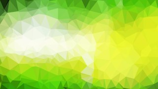 Green Yellow and White Polygonal Triangular Background Vector Illustration