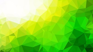 Abstract Green Yellow and White Low Poly Background Illustration