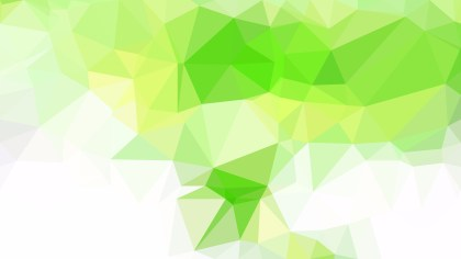 Abstract Green Yellow and White Polygonal Background Image