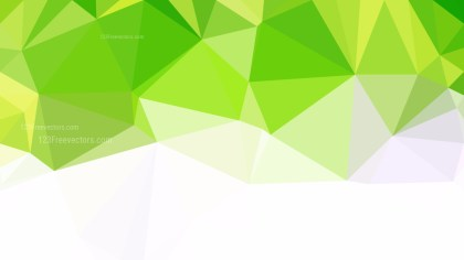 Abstract Green Yellow and White Polygonal Background Design