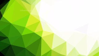 Green Yellow and White Polygon Background Template Graphic