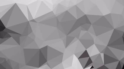 Gray Polygonal Triangle Background