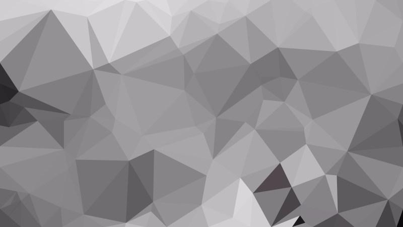Gray Polygonal Triangle Background
