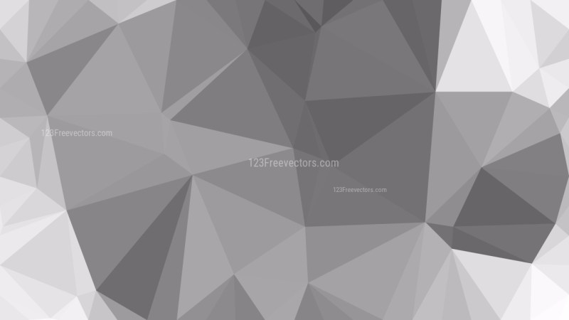Gray Geometric Polygon Background Vector