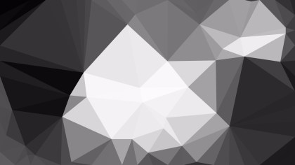 Grey and White Low Poly Background Template