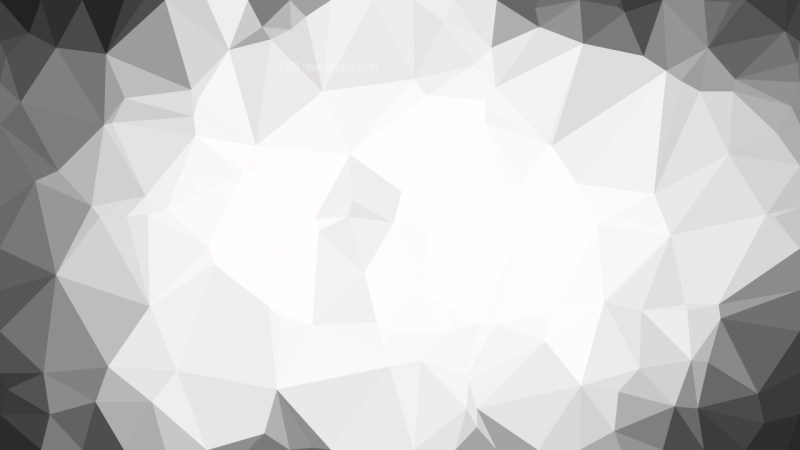 Grey and White Polygon Background Design Vector