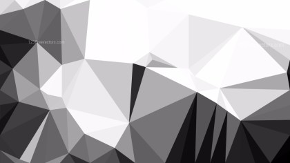 Grey and White Low Poly Background Design Graphic