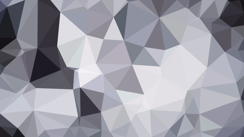 Grey and White Polygon Pattern Abstract Background Vector Image