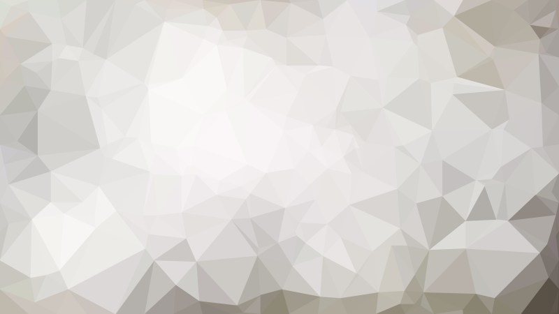 Abstract Grey and White Low Poly Background Template Vector Graphic