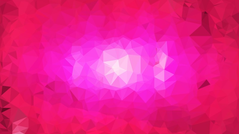 Abstract Hot Pink Polygon Background Template
