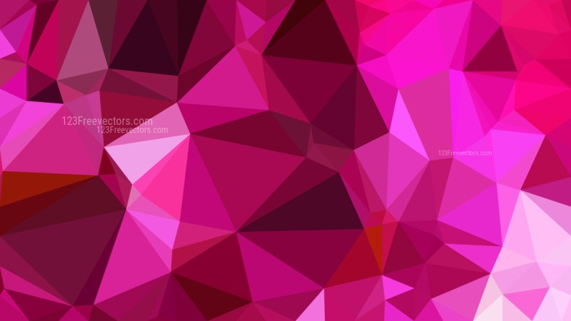 Abstract Hot Pink Low Poly Background