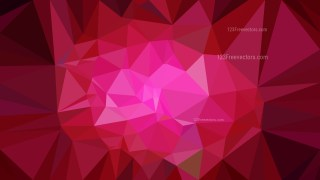 Abstract Hot Pink Low Poly Background Template
