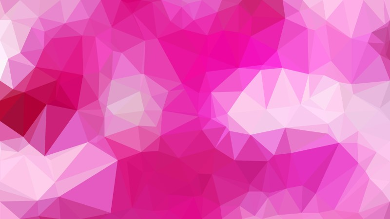 Abstract Hot Pink Polygonal Triangle Background