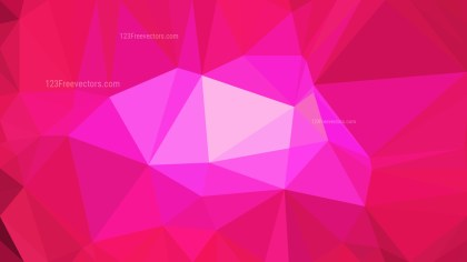 Hot Pink Polygon Triangle Background Vector Image