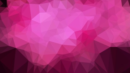 Abstract Hot Pink Low Poly Background Design Vector Graphic