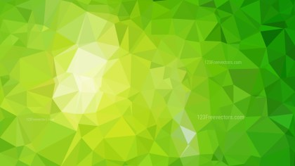 Lime Green Low Poly Background Template Design