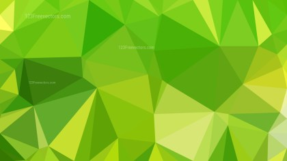 Abstract Lime Green Polygon Background Design