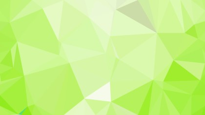 Lime Green Low Poly Abstract Background Design