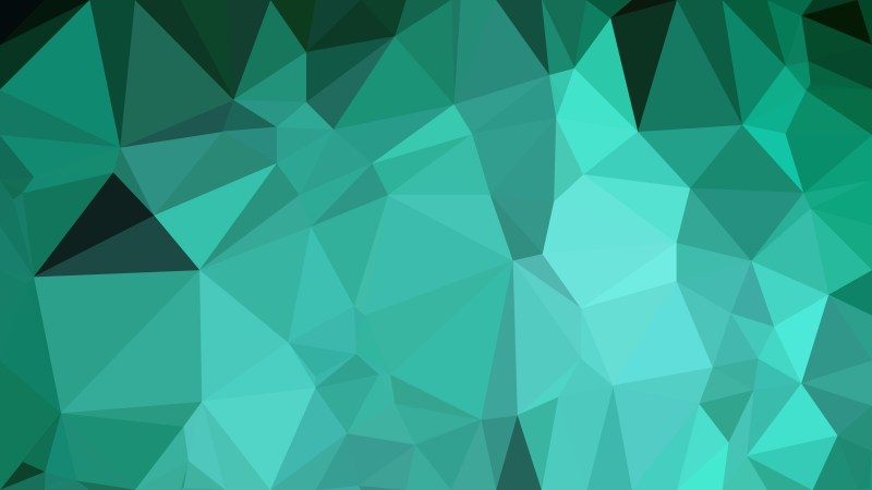 Mint Green Polygonal Background Vector Image