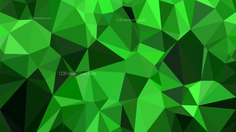 Abstract Neon Green Polygon Pattern Background