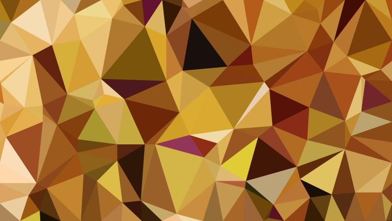 Orange Polygonal Triangle Background